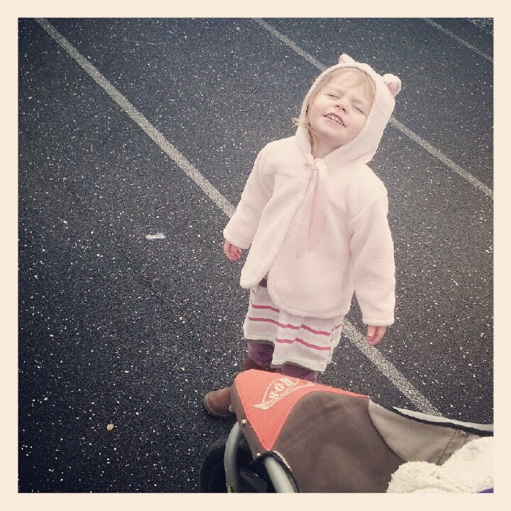 Miss Finley-bear at the Track....